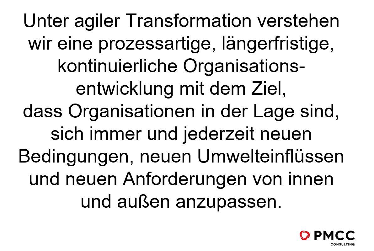 PMCC Zitat zur agilen Transformation