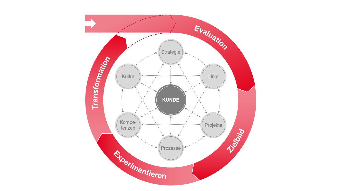 PMCC Grafik zum agilen Transformationsprozess