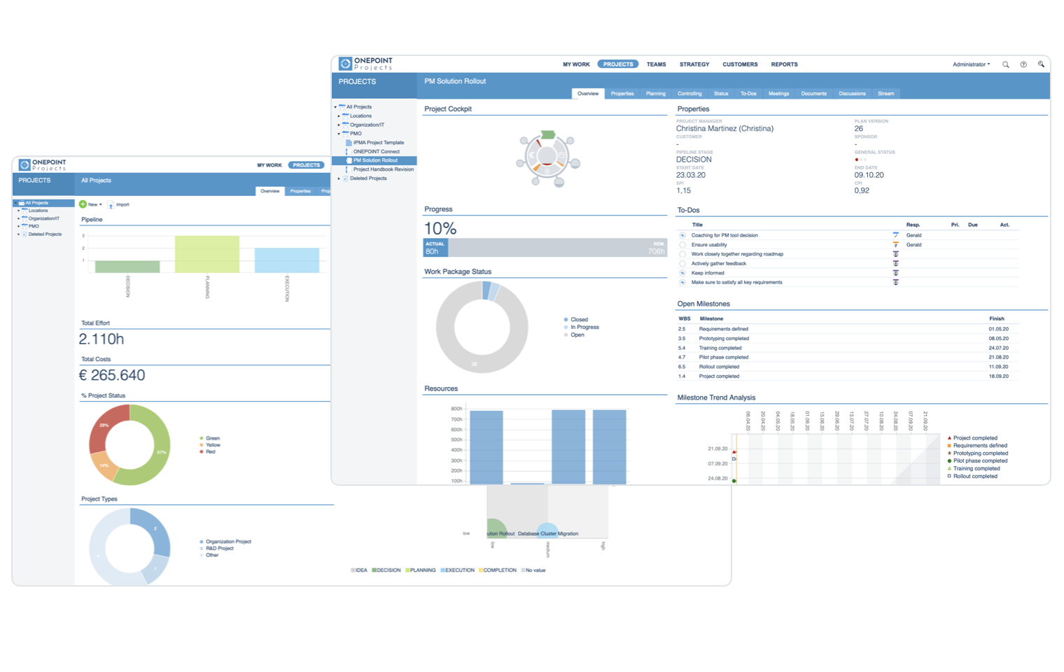 PMCC-Fast access to information: project and portfolio dashboards